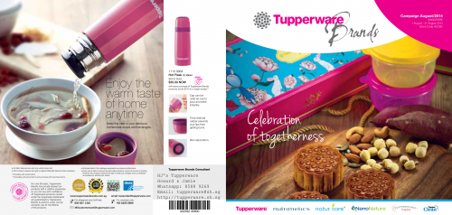 Tupperware Catalogue August Singapore