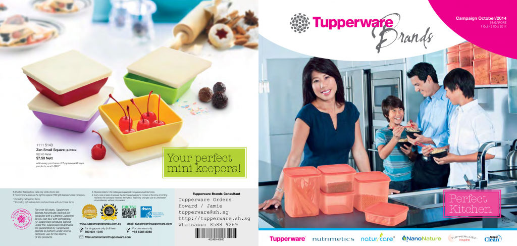 Tupperware October 2014 Singapore