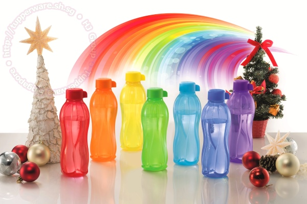 tupperware eco bottle rainbow