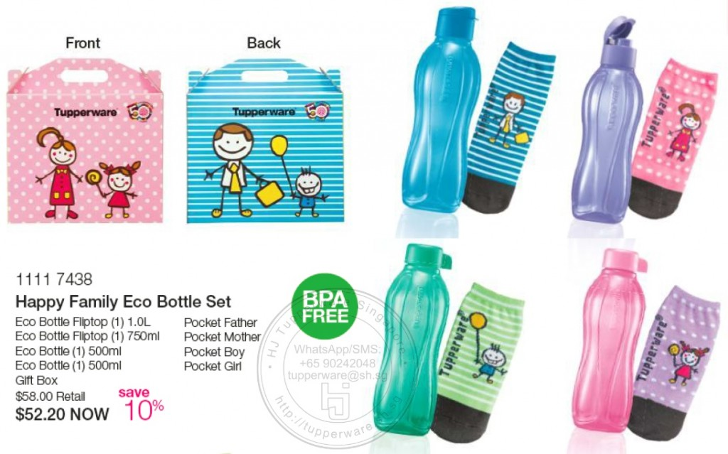 Happy Family Eco Bottle Set