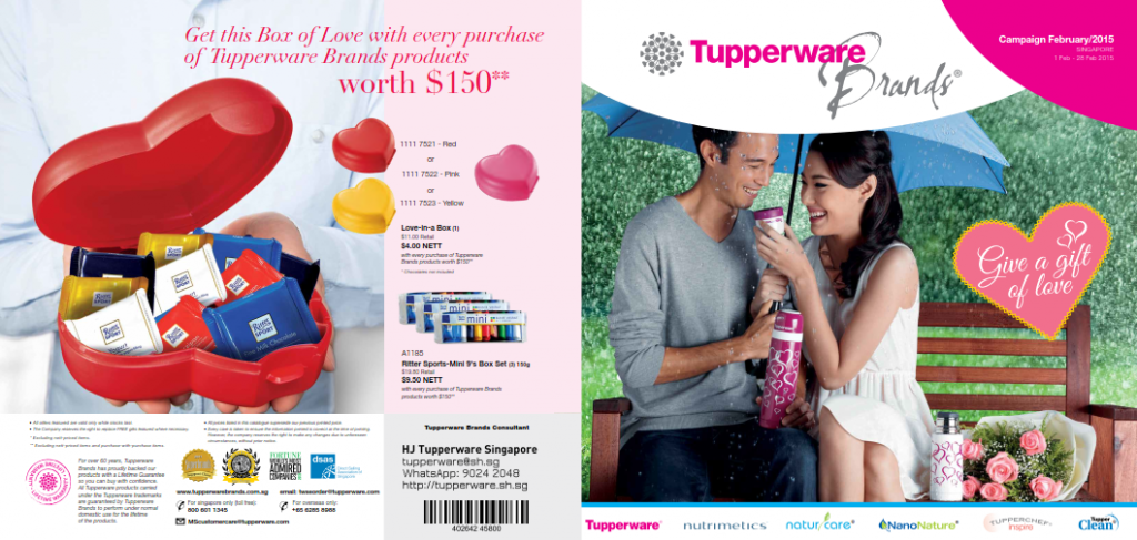 February 2015 Tupperware Singapore Catalogue