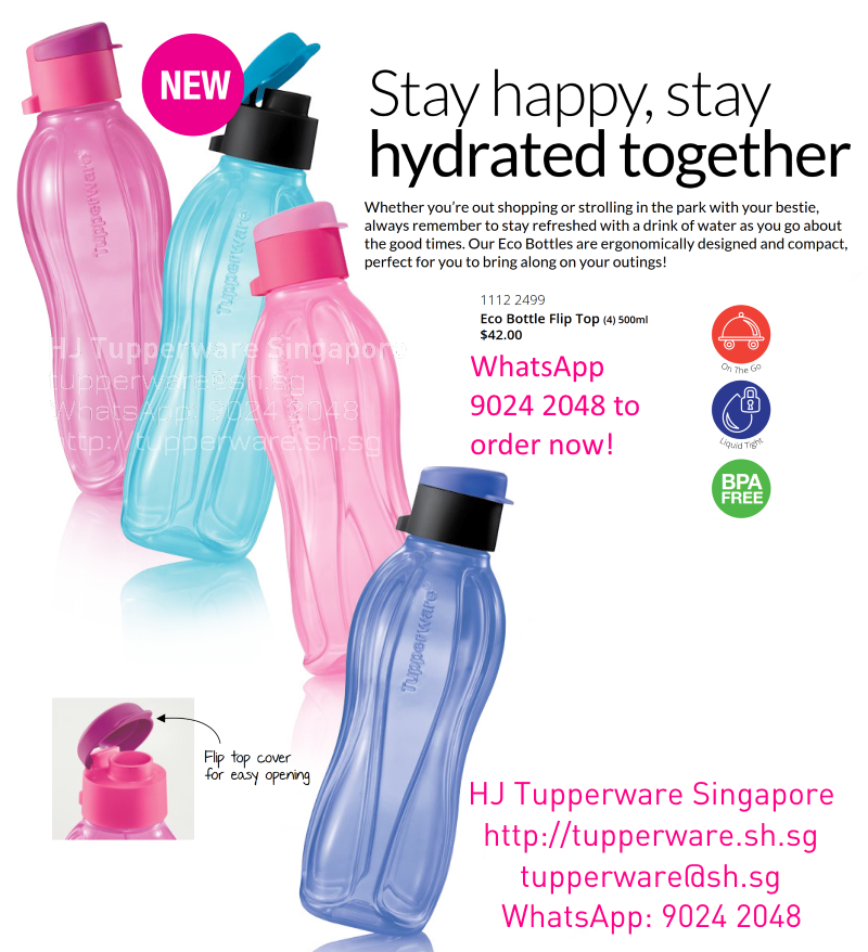 Tupperware Eco Bottle 500ml Flip Top