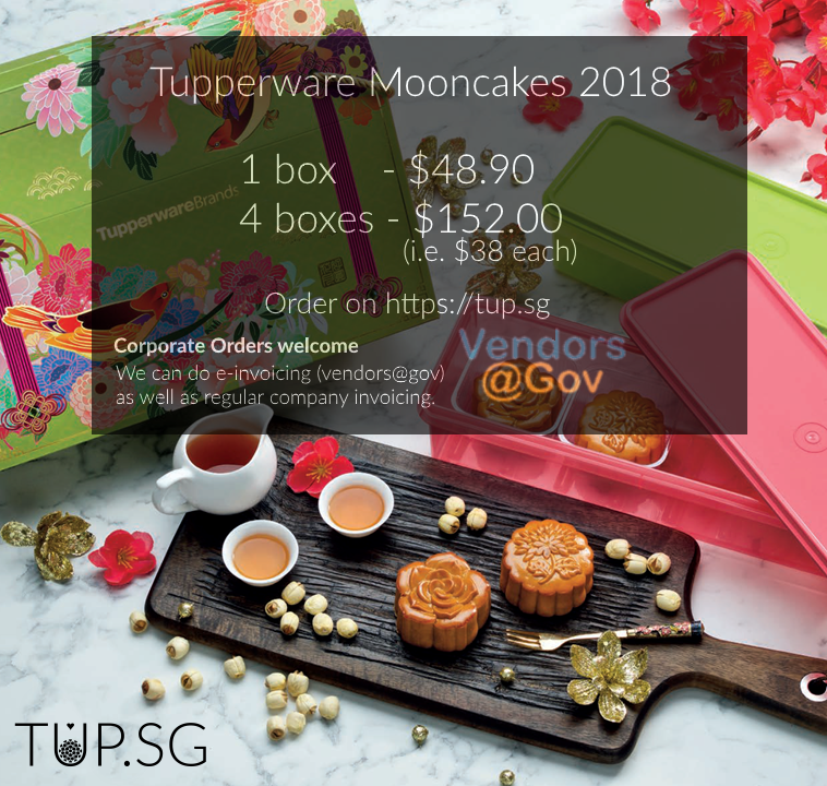 Tupperware Mooncake 2018