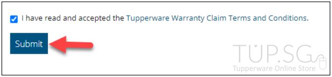 Submit Tupperware Warranty claim